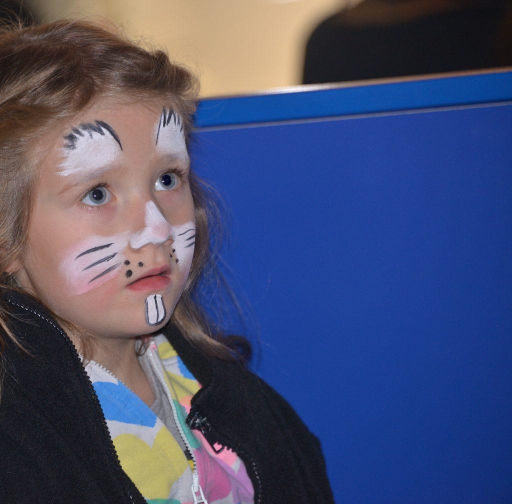 rabbit face paint by snazaroo